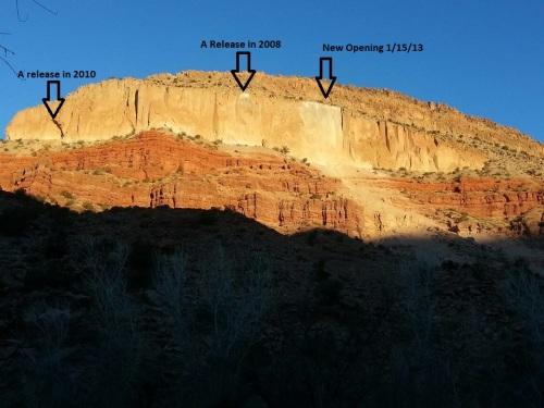 close up mesa arrows