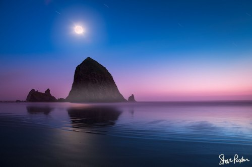 cannon-beach-haystack-rock-oregon-at-sunset-by-steve-paxton-03
